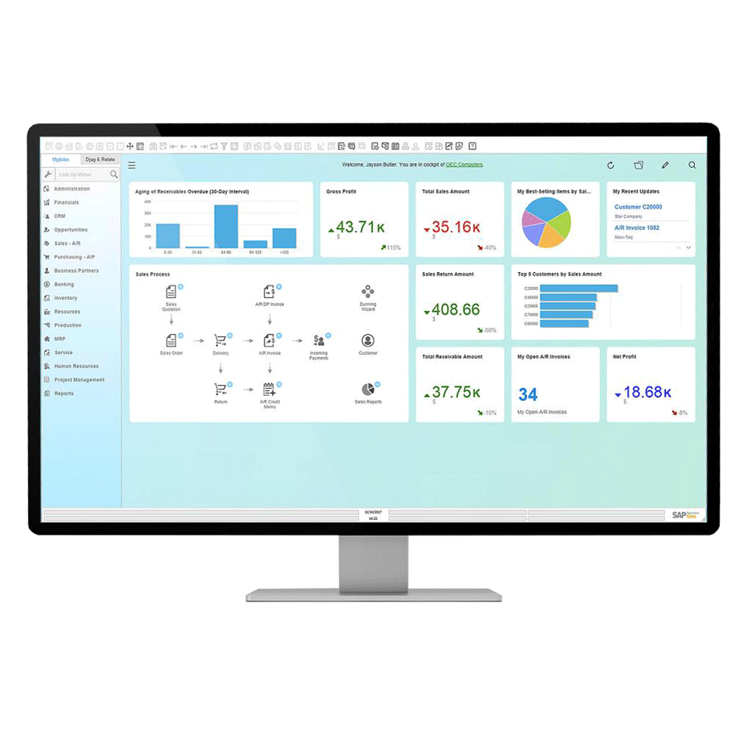 Dashboards SAP Business One